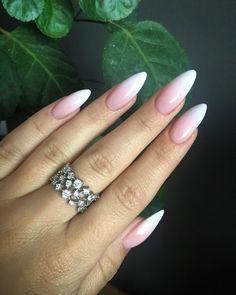 Idealne ❤️ @paznokcie_jessica raz jeszcze dziękuję #newnails #perfectnails #almondnails #gelnails #babyboomer #babyboomernails…