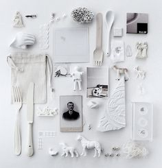 ∷ Variations on a Theme ∷ Collection of white obects