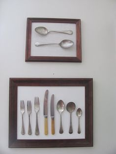 I wanted to put some sort of artwork in my kitchen but I wasn't sure what.   I have long admired cutlery in shadow boxes and thought I m...