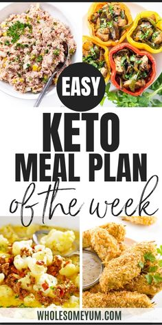 Burned out from all the rich Thanksgiving leftovers? Lighten up the meal plan this week with Deviled Ham Salad, Chicken Fajita Stuffed Peppers, Cheeseburger Soup, and Coconut Chicken Tenders. The Easy Keto Meal Plan App makes customizing your menu super simple. Add the recipes you love, and remove the ones you don't. When you are ready you can email your meal plan or print it out. Get the full plan complete with recipes and a shopping list. How easy is that?! #WholesomeYum