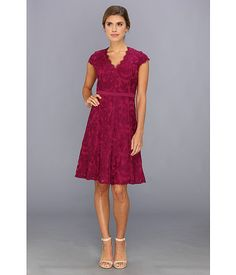 Zappos - Adrianna Papell Illusion Inset Fit & Flare Crushed Berry - Zappos.com Free Shipping BOTH Ways