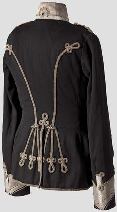 Back of Prussian Hussar tunic in Austrian style, post 1850, Hermann Historica
