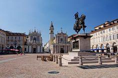 Veduta di Piazza San Carlo con le chiese di San Carlo e Santa Cristina - Photo courtesy Gianluca Garelli www.fotogian.com