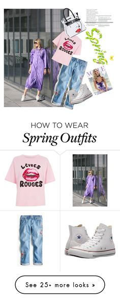 """#spring"" by lpodolskaya-com on Polyvore featuring J.Crew, River Island, Converse, Moschino, Whiteley and rainydayoutfit Spring Outfits, Moschino, River Island, J Crew, Converse, Polyvore, How To Wear, Fashion, Red"