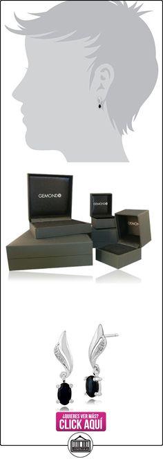 Gemondo Pendientes De Zafiro, 9ct oro blanco 0.67ct zafiro y diamante pendientes de gota  ✿ Joyas para mujer - Las mejores ofertas ✿ ▬► Ver oferta: http://comprar.io/goto/B01C8PC8Z4