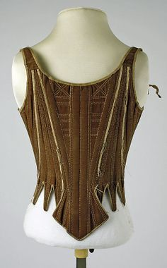Corset  Date: 18th century Culture: American or European Medium: cotton, silk Dimensions: [no dimensions available] Credit Line: Gift of Mr. Mark Holstein, 1941 Accession Number: C.I.41.94  This artwork is not on display