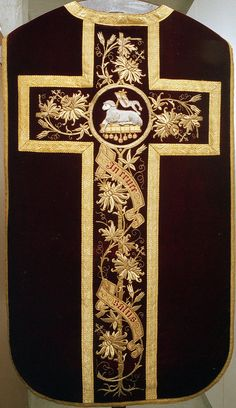 NEG021-03  Chasuble  Dutch  Date: c. 1870-1890