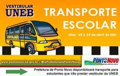 NONATO NOTÍCIAS: Prefeitura de Ponto Novo disponibilizará transport...