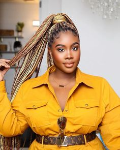 Hey Ladies, Today we bring to you two unique braided hairstyles called knotless braids and box braids, they are lovely protective hairstyles. Box Braids Hairstyles For Black Women, Braids Hairstyles Pictures, Braided Hairstyles For Black Women, African Braids Hairstyles, Trendy Hairstyles, Girl Hairstyles, Latest Braided Hairstyles, Braid Hairstyles, Wedding Hairstyles