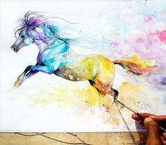 watercolor horse tattoo - Buscar con Google