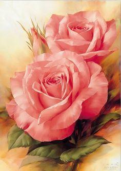 Pink art   Cuadros de Flores Bonitas