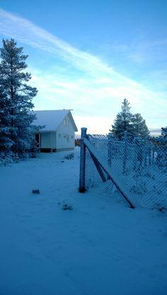 Lots of snow and -20 degrees freeze in Holiday Home Fair worksite, Kalajoki Finland. Lunta ja kamalasti pakkasta! Kalajoen Loma-asuntomessualue tammikuussa 2014.