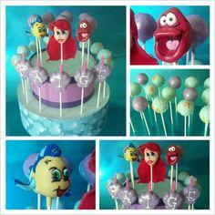 The Little Mermaid cake pops by Let Them Eat Cake Pops ~ www.LetsEatCakePops.com