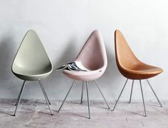 Arne Jacobsens Drop Chair bei Fritz Hansen neu aufgelegt - Tipp des Tages - [SCHÖNER WOHNEN]