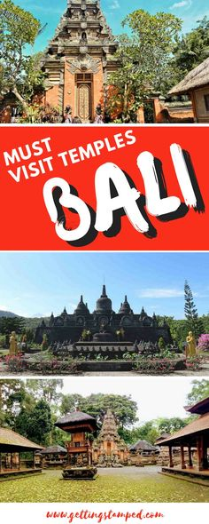 The ultimate guide to Bali's must visit temples. Head to the Ubud Monkey Forest, which is not only home to over 600 monkeys, but three temples. Visit Pura Luhur Uluwatu, one of Bali's most impressive temples that is best experienced at sunset. Built on a rock away from the shore, Tanah Lot is home to a garden and spectacular sunset photography opportunities. | Getting Stamped - Couple #Travel & #Photography #Blog #Bali
