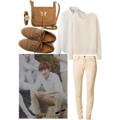 EXO for Nature Republic Chanyeol Inspired Outfit by smokingcrayonz on Polyvore featuring polyvore fashion style Uniqlo 7 For All Mankind Ollio even&odd Forever 21