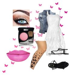 """""""social butterfly"""" by bambambalam ❤ liked on Polyvore featuring VILA, True Decadence, Christian Dior, Chanel and Anastasia Beverly Hills"""