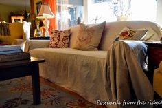 Quick, cheap and easy sofa slipcover