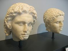 Alexander, left, and Hephaestion, right