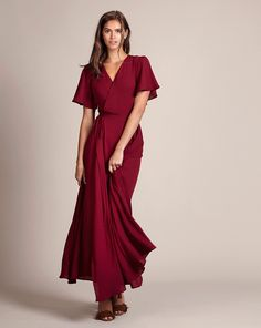 a65fd73f1c Introducing the Florence wrap dress in red by Rewritten. Perfect for  dancing the night away