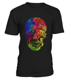 Swirly Skull (color)   => Check out this shirt by clicking the image, have fun :) Please tag, repin & share with your friends who would love it. halloween costume ideas #halloween #hoodie #ideas #image #photo #shirt #tshirt #sweatshirt #tee #gift #perfectgift #birthday