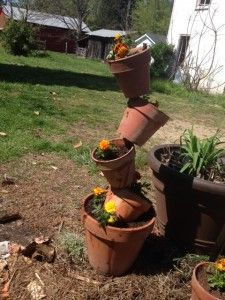 How to Make a Flower Pot Tower
