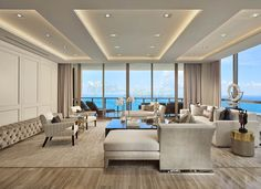 Discover what Interiors by Steven G. can do for your home with the luxury Mansions at Aqualina Contemporary Design Portfolio. rigips Contemporary Mansions at Aqualina House Ceiling Design, Ceiling Design Living Room, Bedroom False Ceiling Design, False Ceiling Living Room, Home Ceiling, Interior Design Living Room, Living Room Designs, Ceiling Bed, Living Room Tv