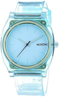 Women's Wrist Watches - Nixon 1785 The Time Teller P Translucent Mint Watch * Find out more about the great product at the image link. Cool Watches, Watches For Men, Wrist Watches, Woman Watches, Trendy Watches, Mint Watch, Nordstrom Jeans, Turquoise Jewelry, Jewelry Gifts