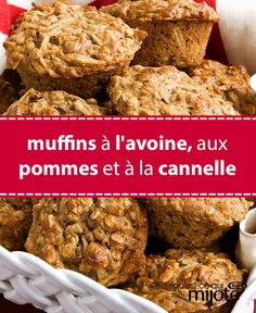 Bake and freeze these muffins for yummy grab-and-go snacks your family will love. Tap or click photo for this Cinnamon, Apple and Oat Muffins Cooking Bread, Tomato Cream Sauces, Healthy Muffins, Muffin Recipes, Apple Baking Recipes, Healthy Baking, Smoothie Recipes, Food And Drink, Dessert Recipes
