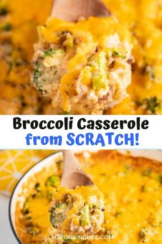 Make dinner time a success with everyone with this easy to make Broccoli Rice Casserole made from scratch. All it takes is one pot and you'll be enjoying this wonderfully cheesy and flavorful meal in no time at all. This recipe is also vegetarian friendly! Easy Rice Recipes, Vegetarian Recipes Easy, Side Dish Recipes, Dinner Recipes, Budget Recipes, Lunch Recipes, Delicious Recipes, Broccoli Rice Casserole, Casserole Dishes