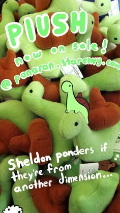 """sheldontinydino: """" Plushes are now officially on sale! Buy Here! Anyone who pre-ordered, your plushes began shipping out as of the 1st and should all be out this week. Stock is limited but there's a few hundred available! I would really really...  Pinterest: Simone_Freeman"""