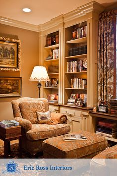 Somers Library - traditional - family room - nashville - by Eric Ross Interiors, LLC