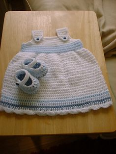 Ravelry: Baby crochet sun dress and shoes pattern by Angela Turner