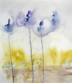 Original art for sale at UGallery.com | Dream in Blue by Karin Johannesson | $450 | watercolor painting | 22 h x 19 w | http://www.ugallery.com/watercolor-painting-dream-in-blue