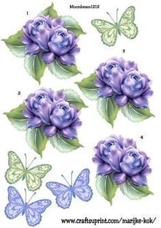Step By Step Roses & Butterflies, to make your own beautifulcard!