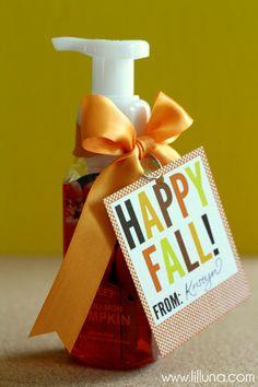 Fall Soap Gift Idea with Free Tags from { lilluna.com }