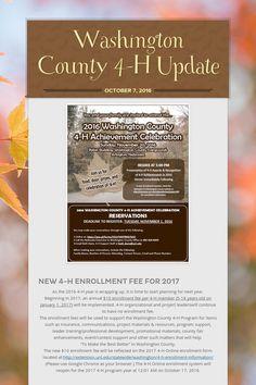 10/7/16 Washington County 4-H Update