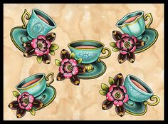 Most popular tags for this image include: tea, flowers, cups, flash and teacup