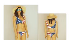 American Flag Bikini,USA flag knotted bikini top,Strappy bottoms,Swimsuits plus July,Swimwe Strappy Bikini Top, Bikini Tops, Plus Size Swimsuits, Women Swimsuits, Wrap Around Bikini Top, American Flag Bikini, Suits Women
