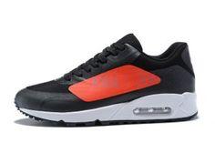 quality design 21826 9067e Mens Shoes Nike Air Max 90 Big Logo Black Bright Crimson AJ7182 003