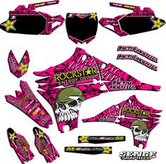 2007 2008 2009 2010 2011 2012 CRF 150R Graphics CRF150R 150 R Deco Decals Pink | eBay