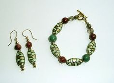 Genuine Turquoise Goldstone And Enamel Brass Bead by IslandGirl77, $22.99