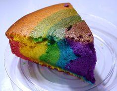Que tal experimentar uma receita fácil e diferente? esse bolo é sucesso! - Aprenda a preparar essa maravilhosa receita de Bolo Arco Íris