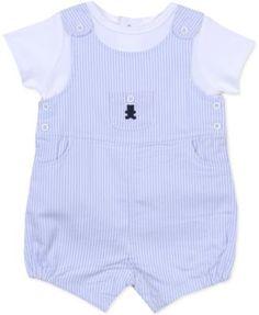 Little Me Baby Boys' 2-Piece Shirt & Shortall Set
