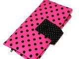 Portemonnaie pink mit schwarzen Punkten von Fadenelemente auf Etsy, €25,90