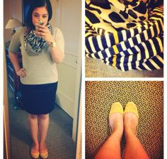 Blue and yellow business casual