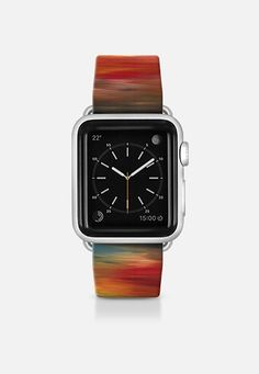 "Get $10 off using code: 5K7VFT ""Color Intoxication 1"" By Artist Julia Di Sano, Ebi Emporium on #Casetify Deep Crimson Garnet Red Yellow Black Bold Autumn Chic Abstract Sunset Modern Abstract Fine Art Stripes Pattern Colorful Fun Design Apple Watch Band (38mm or 42mm) by Ebi Emporium 