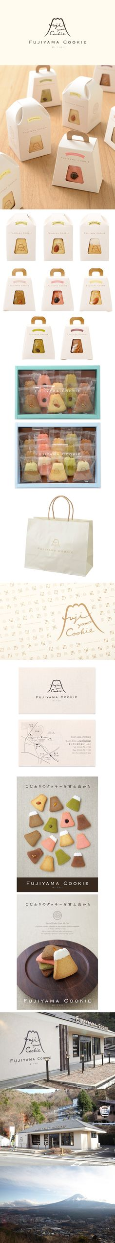 FUJIYAMA COOKIE / logo / package / shop card / poster / sign / FROM GRAPHIC