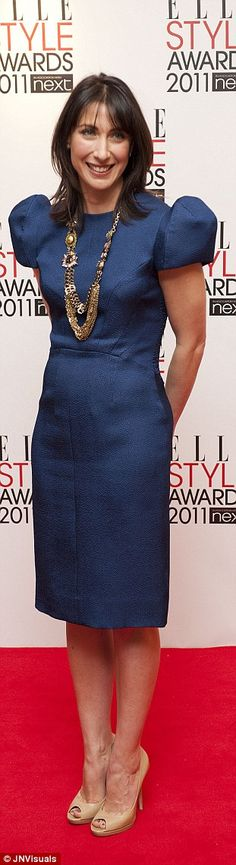 Eyebrows were raised last week when Samantha Cameron was voted the world's best-dressed woman by Vanity Fair magazine, outranking the likes of Amal Clooney and Emma Watson. Samantha Cameron, Vanity Fair Magazine, Amal Clooney, Emma Watson, Stylish Girl, Nice Dresses, Peplum Dress, Mail Online, Lady