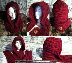 Little Red Riding Scoodie #crochet